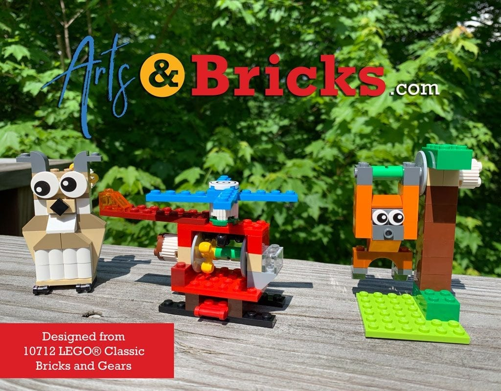 """Add EYES, two big googly eyes and two """"spinny"""" eyes to your LEGO collection. They are perfect for funny eyes on a monster, creating a dizzy animal, or as the top of a very fast helicopter!"""