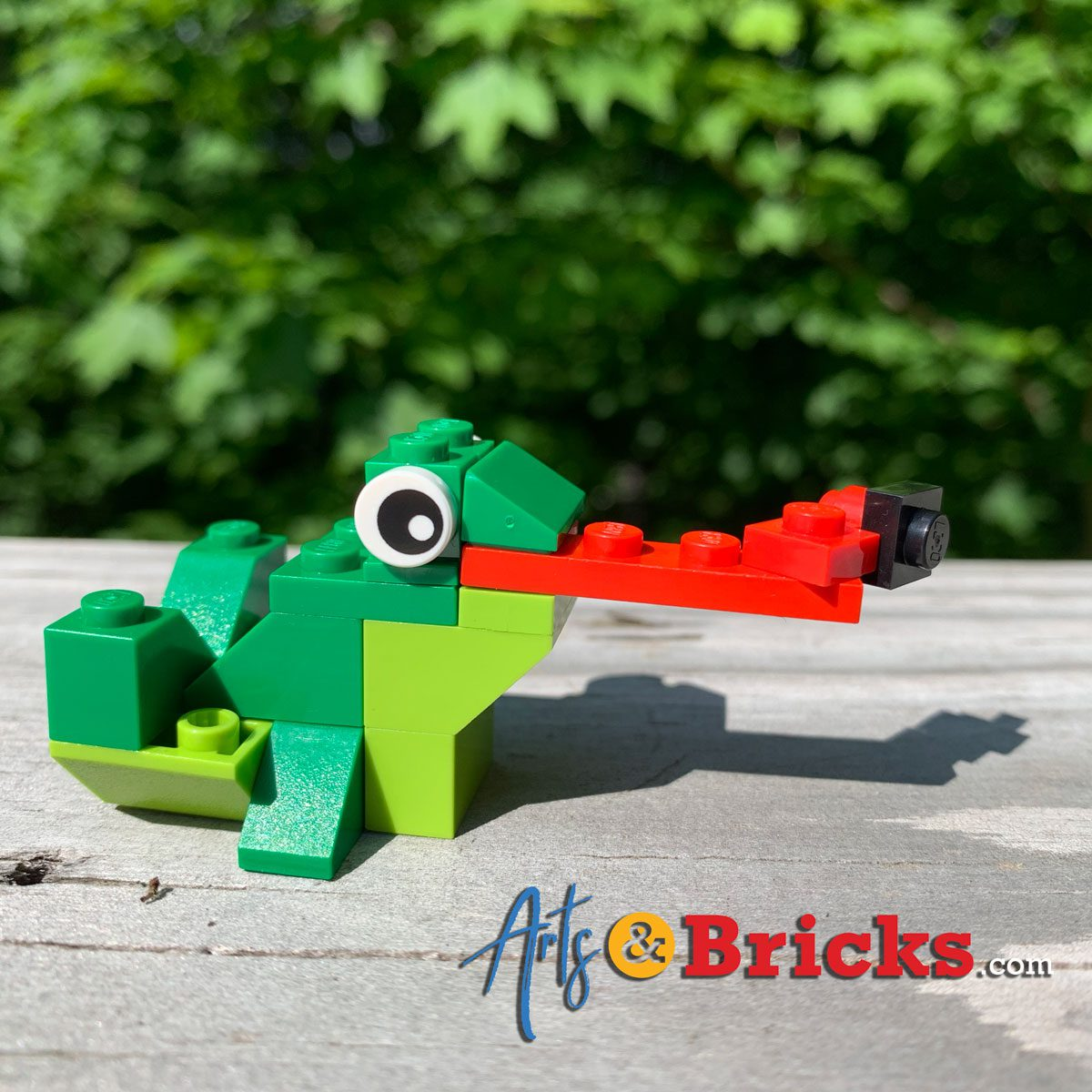 Kids' Frog Art and Frog LEGO builds