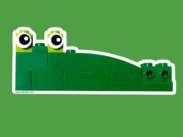 Crocodile made of building bricks - wall decal, wall sticker, LEGO bricks