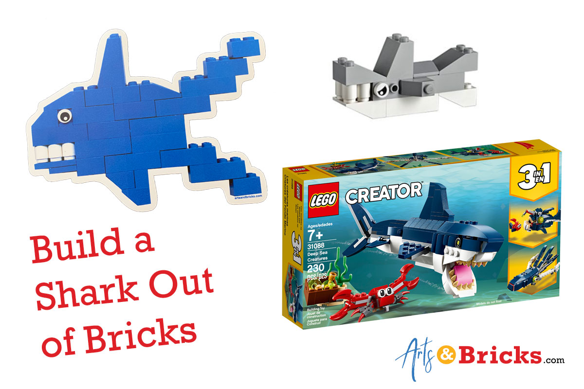 How to build a shark out of bricks - LEGO shark images
