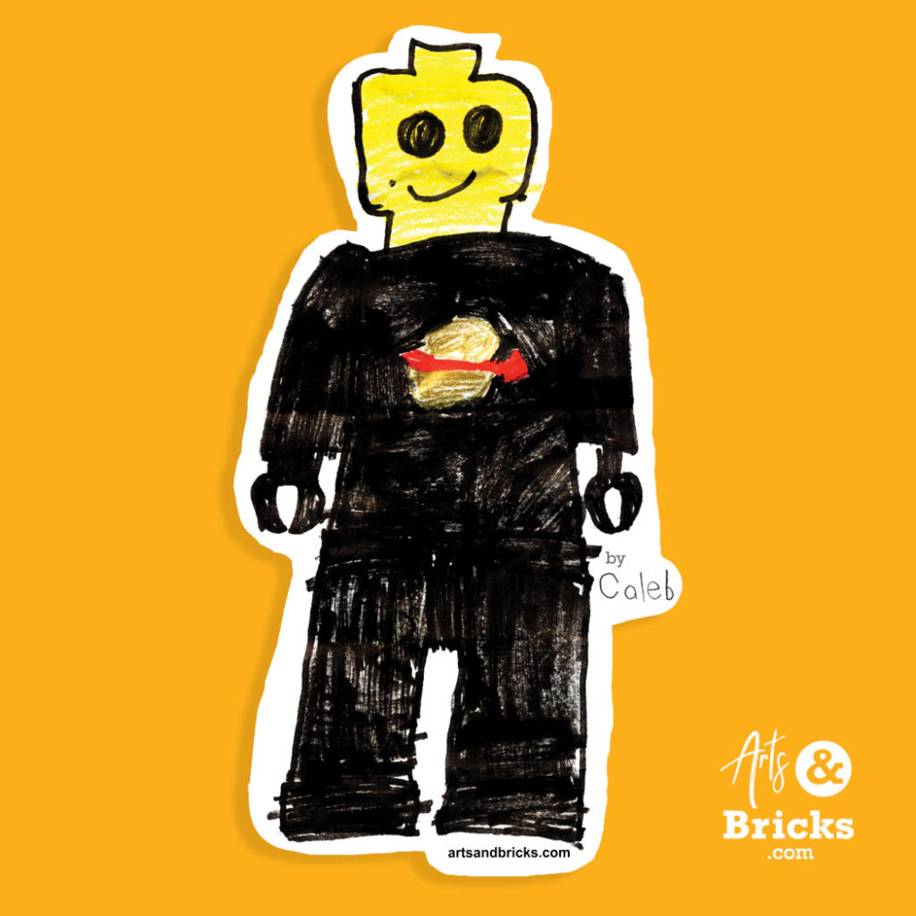 Kids drawings turned into wall stickers - personalized LEGO brick stickers