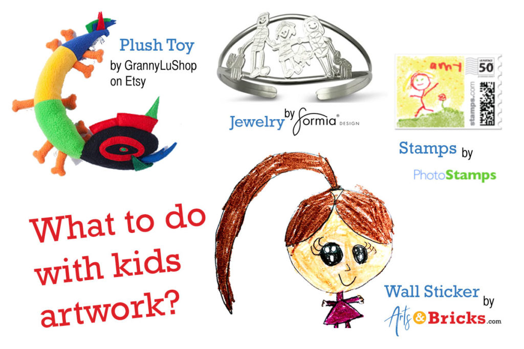 What to do with kids artwork - Creative Ideas