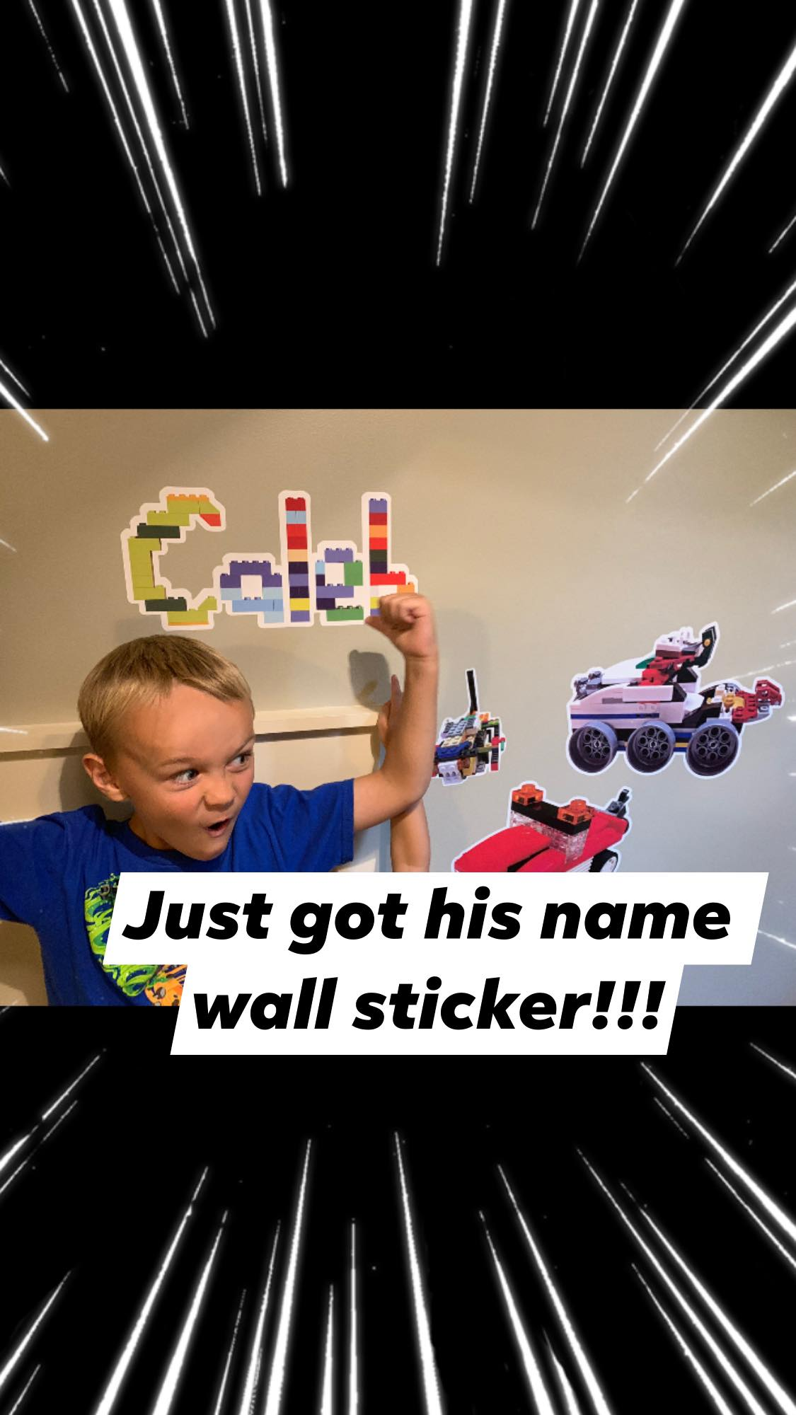 Custom Name Stickers made of LEGO bricks