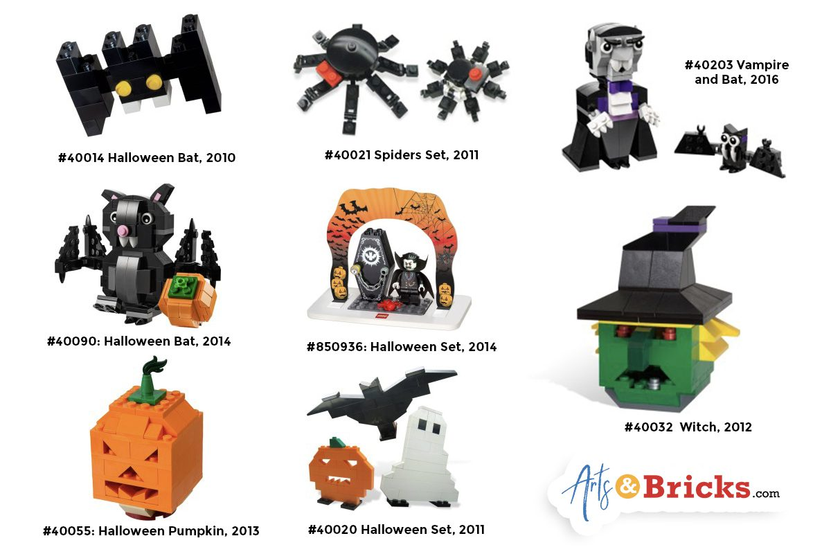 Halloween-Inspired LEGO brick builds