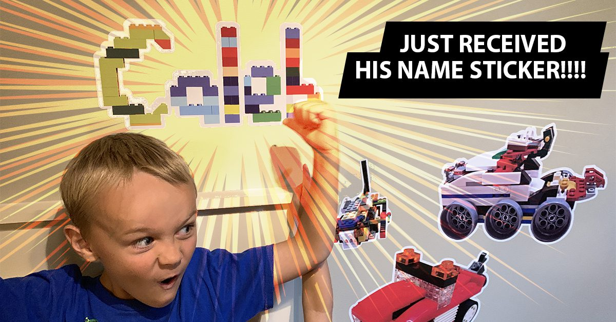 Personalized Name wall Decals - designed with LEGO bricks