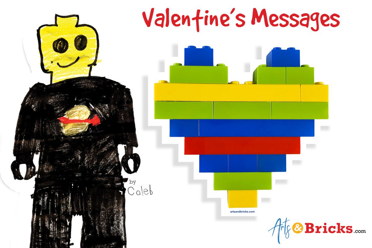 Messages for DIY LEGO Valentine Cards