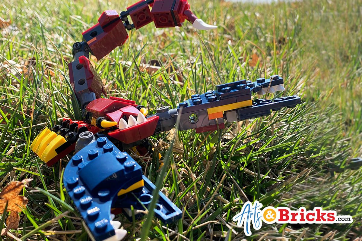 Kid-Review of LEGO Creator Fire Dragon, 3-in-1 Set 31102