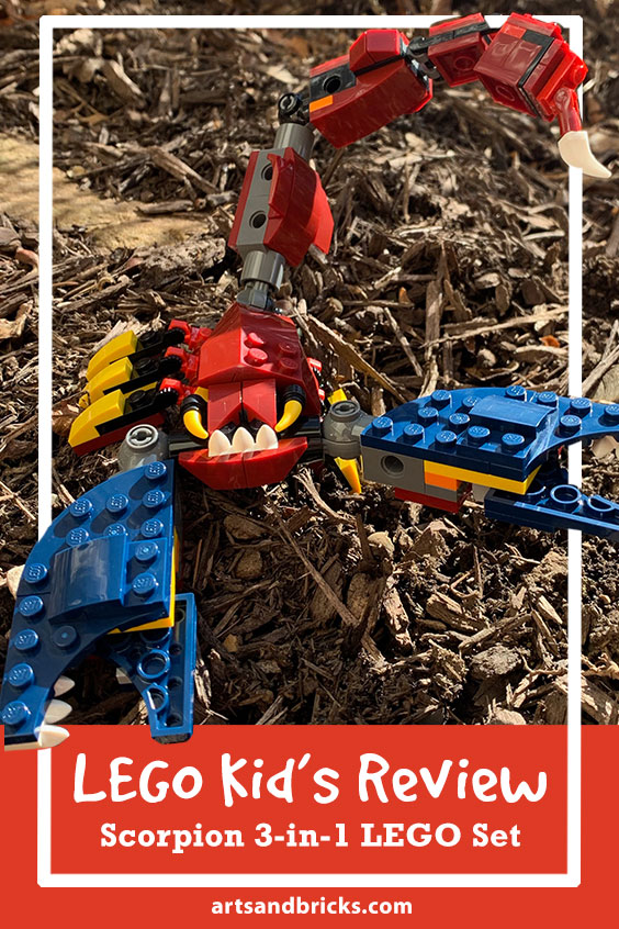 LEGO kids review scorpion set, dragon and saber toothed tiger