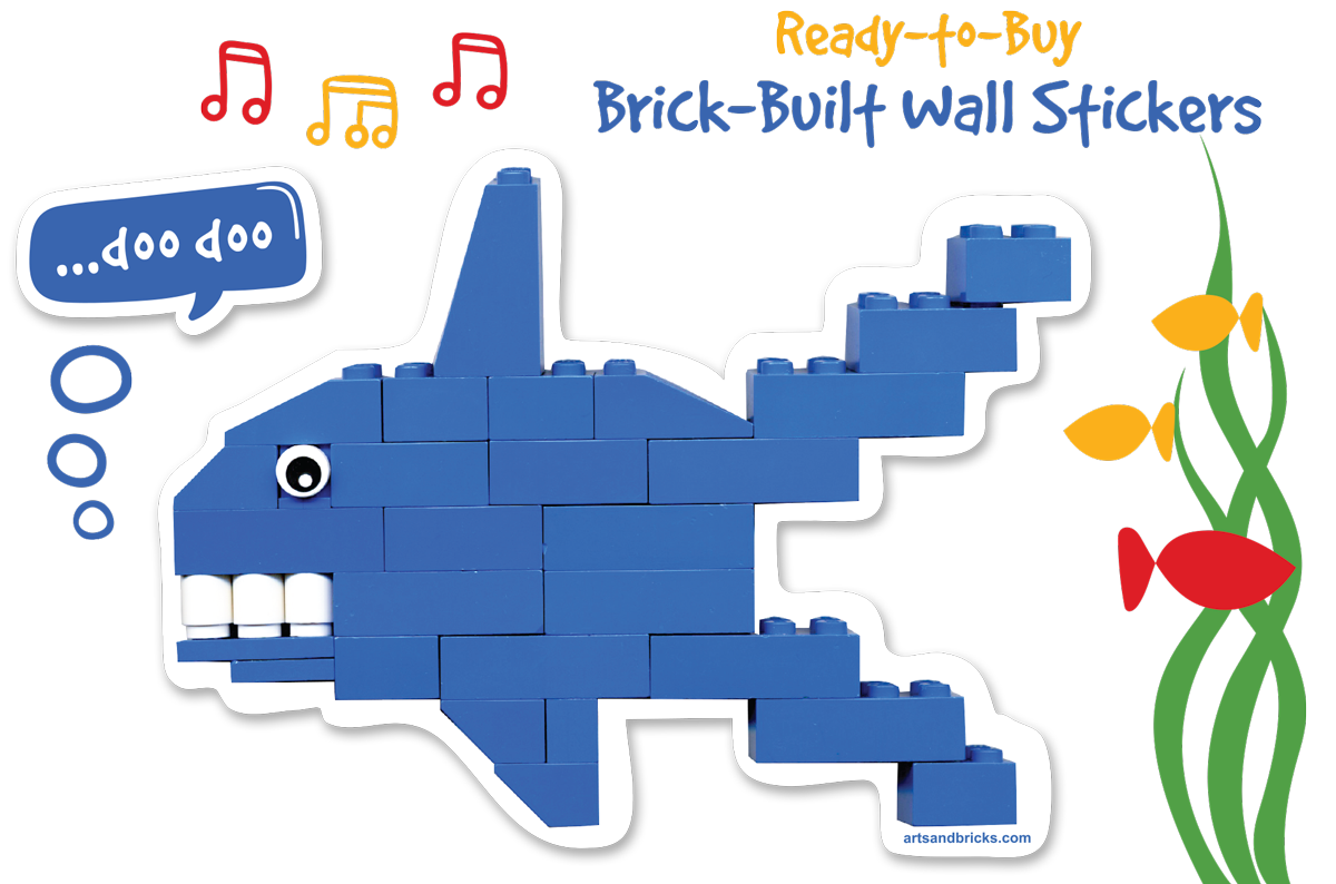 Ready to Buy Brick Built Window Decals and Wall Stickers for Kids