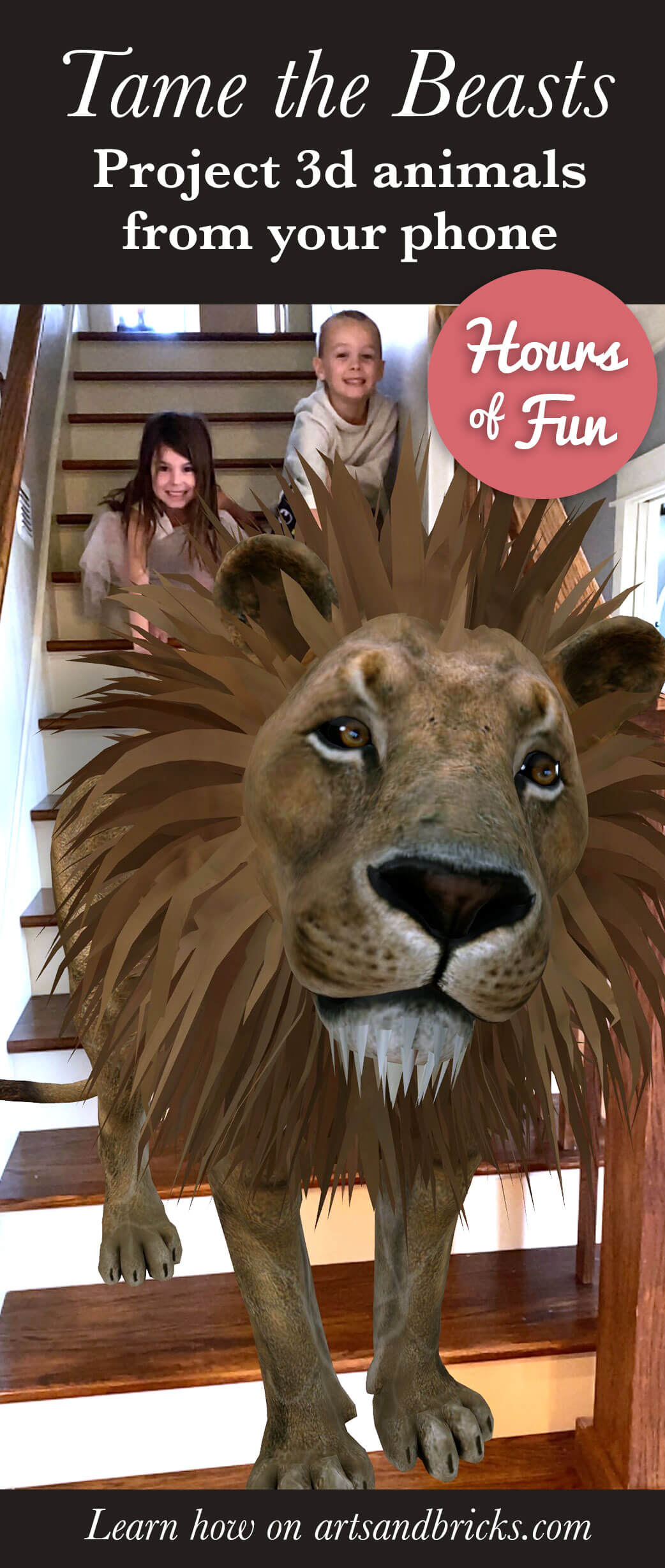 Tame the Beasts - Project 3D animals from your phone - social media trend!