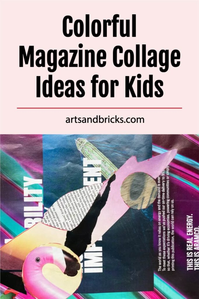 Check out these colorful magazine collage ideas for kids. Instead of throwing away old magazines, save their brightly printed pages for use in magazine collage artwork that you can make with your kids!