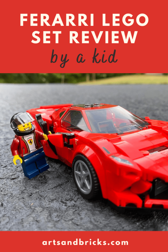 Learn why we think this red Ferrari Lego race car set is a great affordable 2020 set for kids. #lego #legoreview #gift #kids #parenting #pinterest #racecars #cars #racing