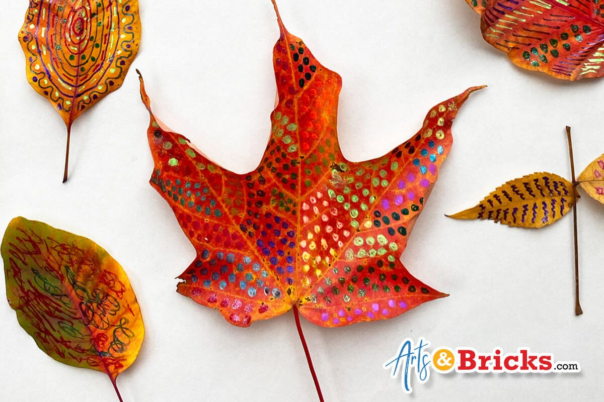 Fall Leaf Craft Idea: Gel Pens