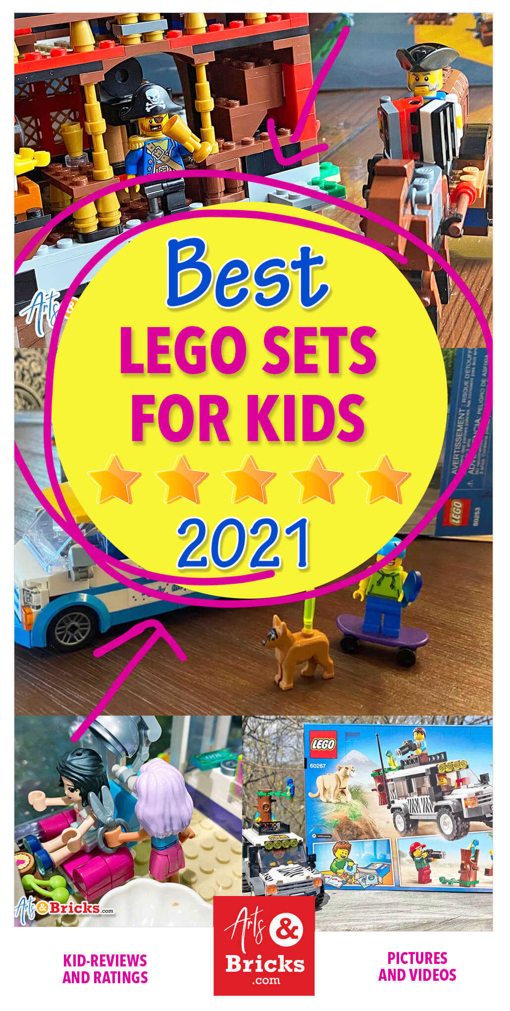 Explore our favorite LEGO sets for kids ages 5 to 12 available for purchase in 2021. Our kids have built these sets and adamantly recommend them!