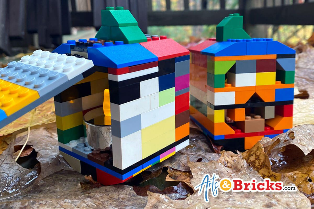 Build a Jack O'Lantern from Lego Bricks