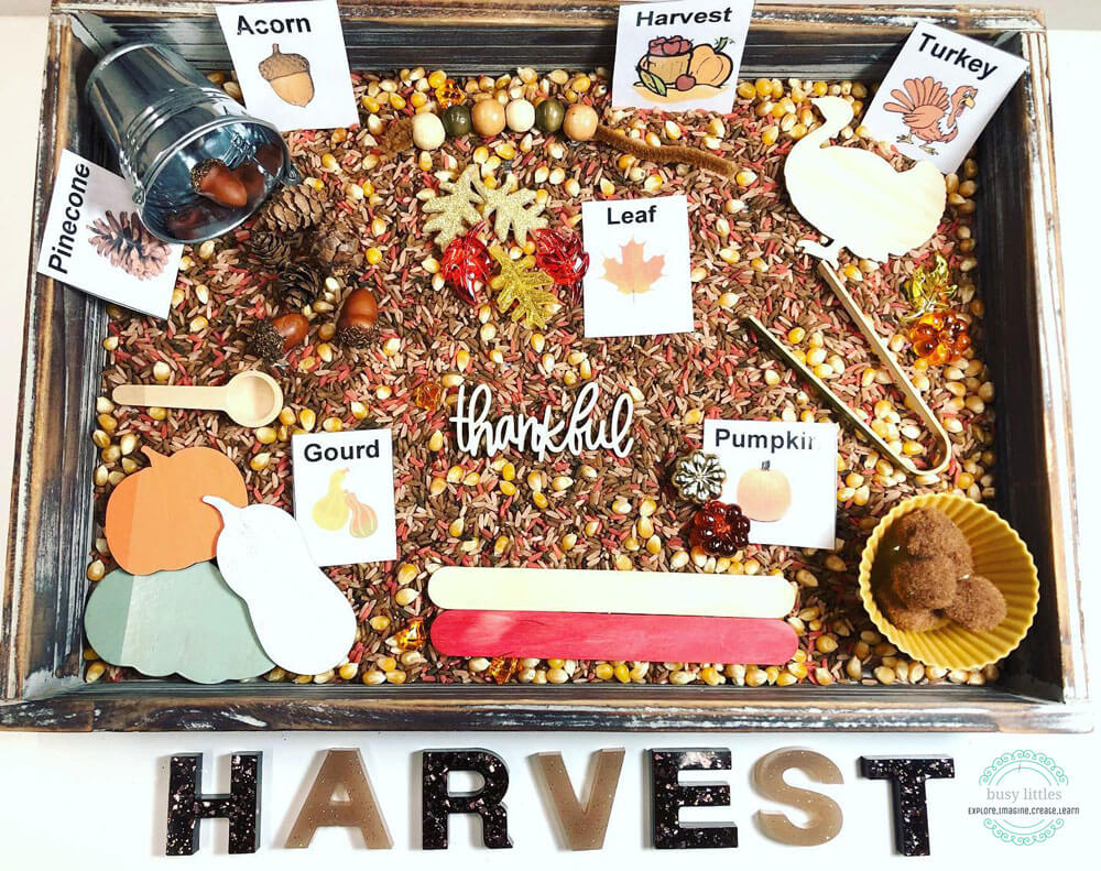Learn about our playful afternoon unpacking and exploring the Busy Littles Harvest Jar, created by Rhode Island mompreneur Meagan.
