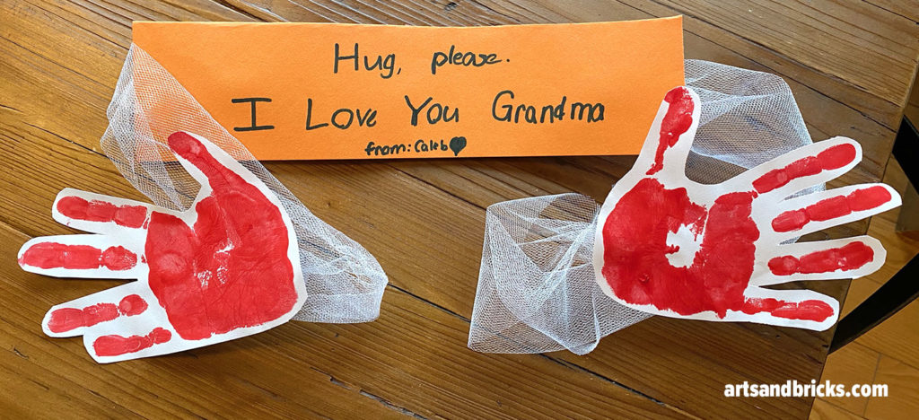 Wrap your recipient with a true hug-span from your child with this Handprint Hug Craft.