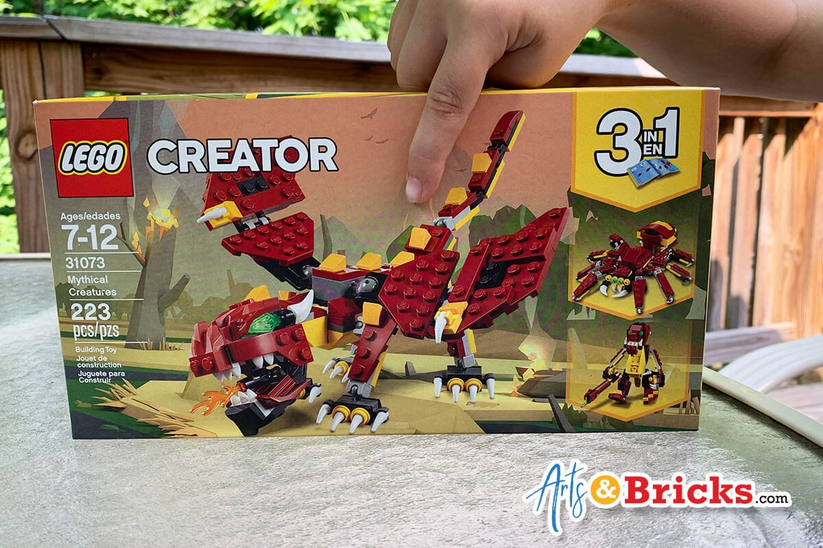 Child-Review for Lego Creator Mythical Creatures, Set 31073