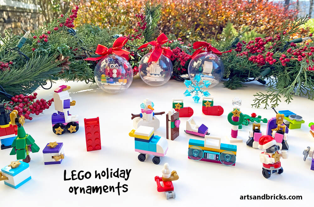 Perfect for holiday gift giving, purchase LEGO advent calendars and ornaments.
