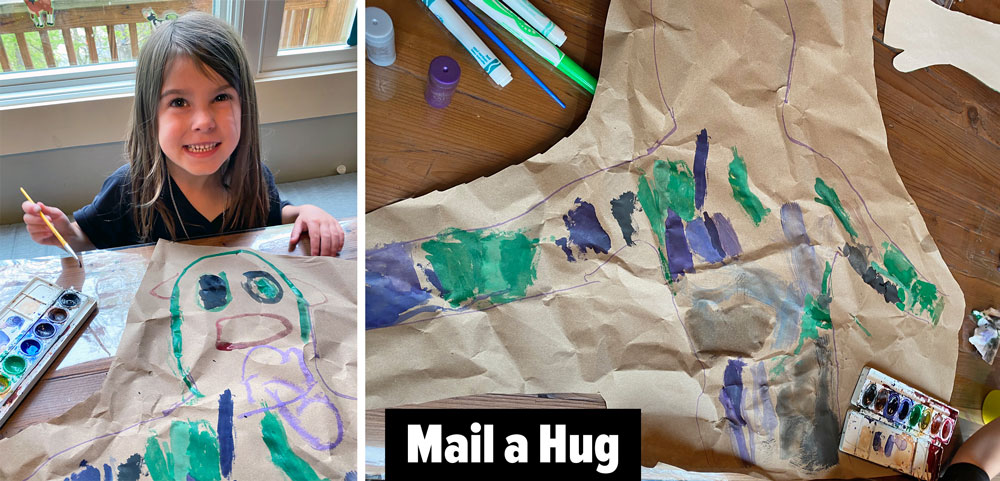 Mail a hug! Learn how to make this simple family-friend craft to make, send and share a hug from your child to someone they love! Spend the day spreading kindness!