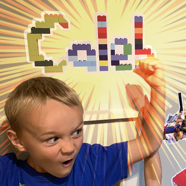 Personalized LEGO gift - name decals built from LEGO bricks