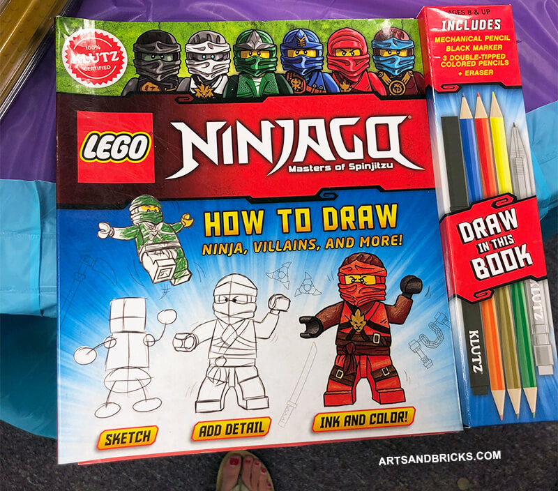 LEGO Ninjago How to Draw Book: This 100% Klutz Certified book includes activities, tracing, and how to draw step-by-step instructions. For the LEGO-enthusiast who also loves drawing, this is a great gift.