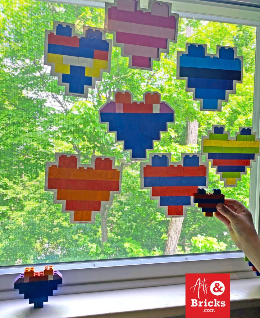 LEGO home decor, window decorations for kids built from LEGO bricks