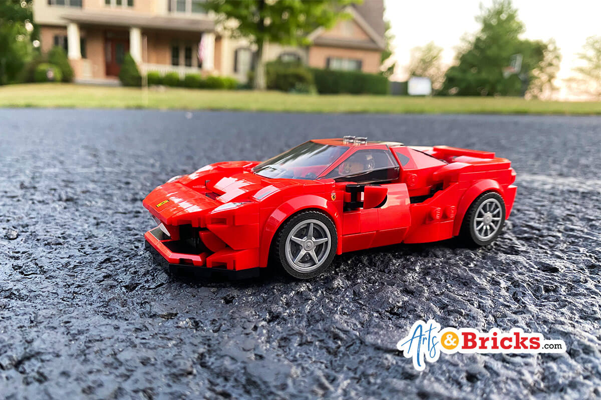 Child toy review for red lego ferrari race car set 76895