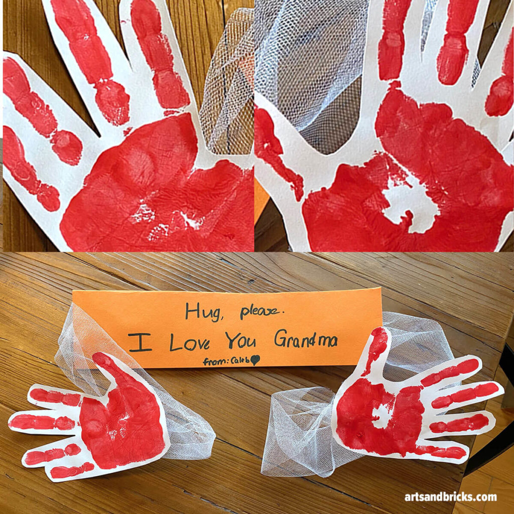 Send your child's HUG-SPAN in the mail! A sweet gift for your loved ones.