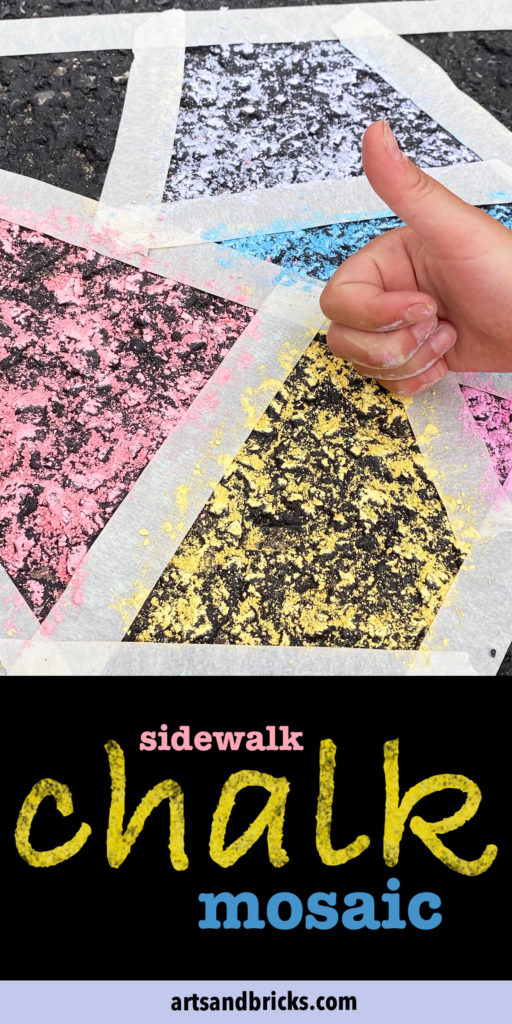 Mosaic chalk art is a great activity for kids, teens, and adults, alike! We especially love this outdoor activity because it's inclusive and gets everyone in the family outside and off electronics.