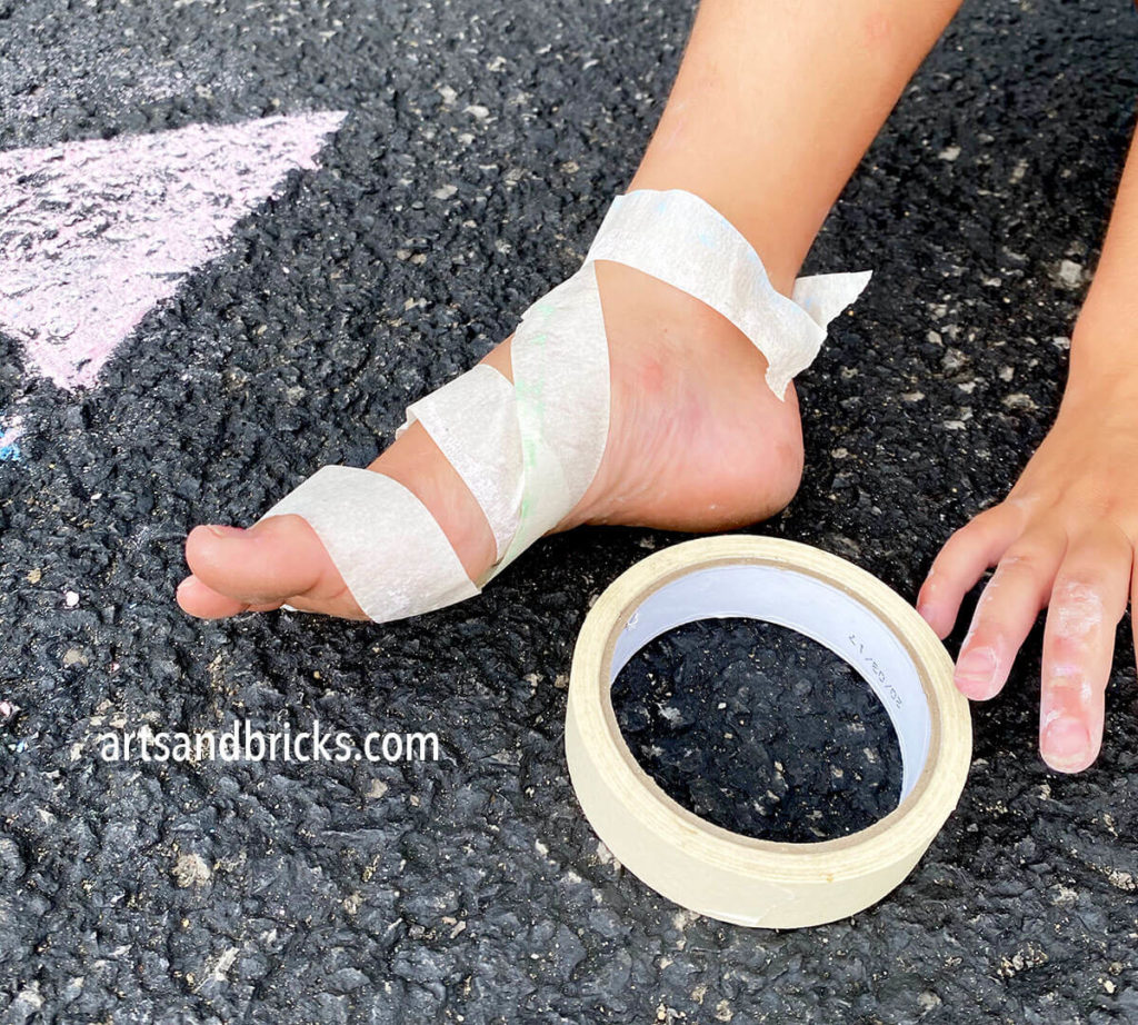 Outdoor play and fun is important; check out these fashion tape sandals.