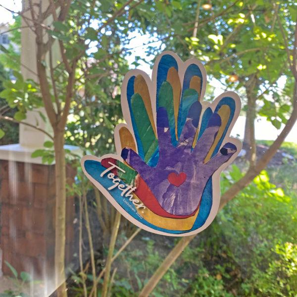 Together family Handprint Keepsake for your Window